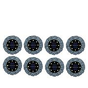 """""""As Is"""" Bell + Howell Disk Lights Solar Ultra Stone 8-pack"""