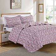 """""""As Is"""" Christopher Knight Collection Retro Printed 3-piece Quilt Set"""