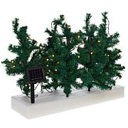 """As Is"" IdeaWorks Set of 5 Lighted Solar Pathway Christmas Trees"