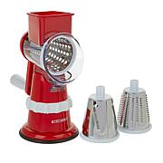 """As Is"" Kitchen HQ Speed Grater and Slicer with Suction Base II"