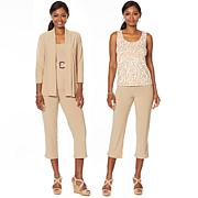 """""""As Is"""" Slinky® Brand 4-piece Set - Jacket, 2 Tanks and Crop Pant"""
