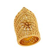 Asa Jewelry Goldtone Cutout Detail Crown Ring