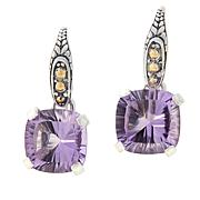 Bali Designs Cushion-Cut Pink Amethyst Drop Earrings