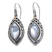 Bali Designs Marquise White Mother-of-Pearl Earrings