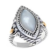Bali Designs Marquise White Mother-of-Pearl Ring