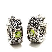 Bali Designs Peridot Small Scroll Hoop Earrings