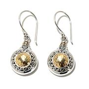 Bali Designs Silver Drop Earrings with 18K Gold Accents