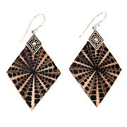 Bali Designs Spider Shell Doublet Diamond Drop Earrings