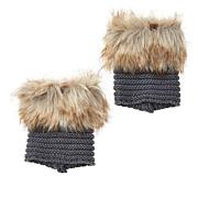 BEARPAW® Comfort Knit Faux Fur Boot Toppers
