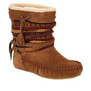 BEARPAW® Cyan Suede and Knit Sheepskin Boot with NeverWet™