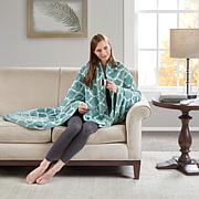 Beautyrest Heated Ogee Printed Knitted Microlight Oversized Throw