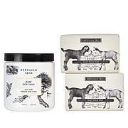 Beekman 1802 Supersize Body Cream and Bar Soap 3-piece Set