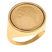 "Bellezza ""Spiccioli"" 100 Lira Coin Polished Bronze Ring"