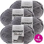 Bernat Blanket Big Ball Yarn 4-pack - Dark Gray