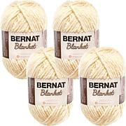 Bernat Blanket Big Ball Yarn 4-pack - Vintage White