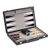Bey-Berk Felt Backgammon Set with Leatherette Case