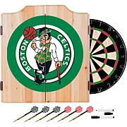 Boston Celtics NBA Wood Dart Cabinet Set