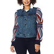 Brittany Humble Sweater Sleeve Denim Jacket