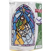 Bucilla Felt Wall Hanging Applique Kit - Stained Glass Nativity