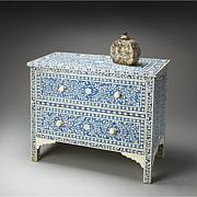 Butler Vivienne Bone Inlay Chest - Blue