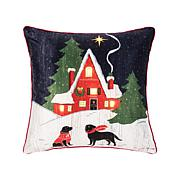 C&F Home Come Home For Christmas LED Pillow