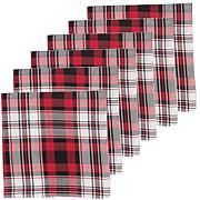 C&F Home Fireside Plaid Cotton Napkin Set of 6