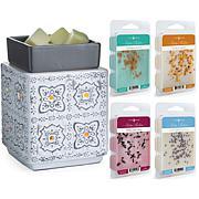 Candle Warmers Modern Cottage Illumination Fragrance Warmer w/ 4 Melts