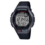 Casio Men's Digital 200-Lap Step Tracker Watch - Black