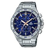 Casio Men's Edifice Stainless Steel Blue Dial Chronograph Watch