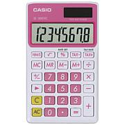 CASIO® SL300VCPLSIH Solar Wallet Calculator w/8-Digit Display - Pink