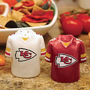 Ceramic Salt and Pepper Shakers - Kansas City Chiefs