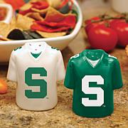 Ceramic Salt and Pepper Shakers - Michigan State