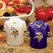 Ceramic Salt and Pepper Shakers - Minnesota Vikings