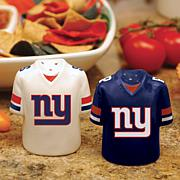 Ceramic Salt and Pepper Shakers - New York Giants