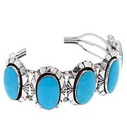 Chaco Canyon 5-Stone Kingman Turquoise Sterling Silver Cuff