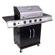 Char-Broil 4-Burner Propane Gas Grill with Cabinet (Silver/Black)