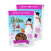 Christmas Bark Lamb with Harvest Pumpkin Recipe Dog Treats 2 Pack 5 oz