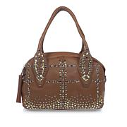 Clever Carriage Diva Antique Studded Leather Satchel