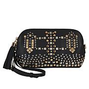 Clever Carriage Diva Studded Leather Crossbody Clutch