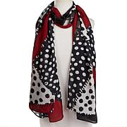 Clever Carriage Naples Patchwork Print Silk Scarf
