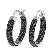 Colleen Lopez 1.78ctw Black Spinel Hoop Earrings