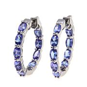 Colleen Lopez 3.6ctw Tanzanite Hoop Earrings