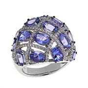 Colleen Lopez 7.06ctw Tanzanite and Zircon Dome Ring