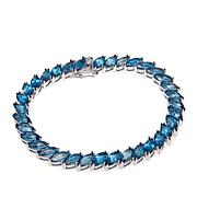 Colleen Lopez Marquise-Cut London Blue Topaz Bracelet