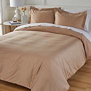 Concierge Collection Wrinkle-Resistant 100% Cotton Duvet Cover Set