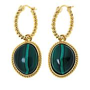 Connie Craig Carroll Jewelry Leigh Malachite Rope Drop Earrings
