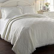 Cottage Collection Crochet Edge 3-piece Quilt Set