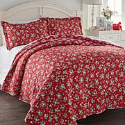 Cottage Collection Holly Reversible 3-piece Quilt Set