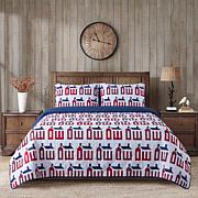 Country Living Home Collection Barn House 3-piece Printed Quilt Set