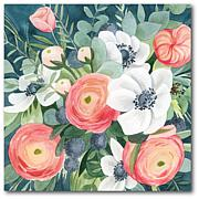 Courtside Market Blooms I 16 x 16 Canvas Wall Art